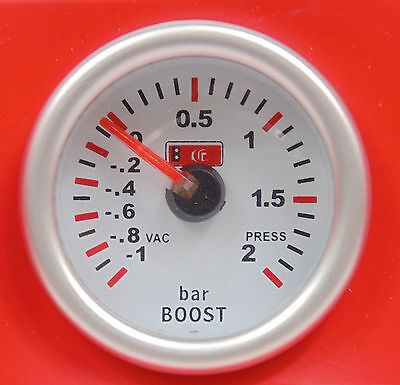 S2 Turbo Boost Gauge -1  to 2 Bar Pressure blue back-light turbocharged car