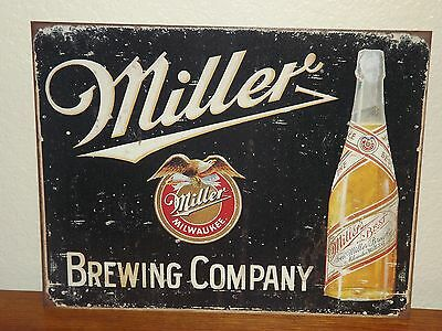 Miller Beer Brewing Company Tin Sign - Rustic Look - Brand New
