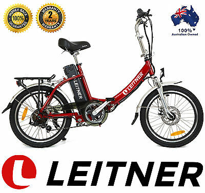 NEW Leitner FOLDING Electric Bike Ebike Bicycle 250W 10Ah Lithium Step-Through