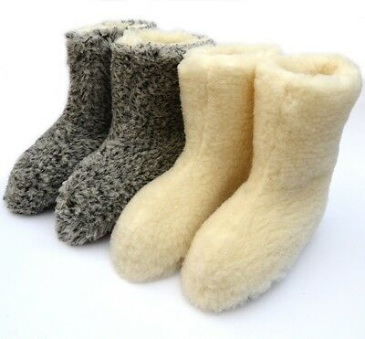Woollen Slippers, WOMEN'S, MEN'S, boots, mules  WOOL GOOD GIFT!!! GORALE