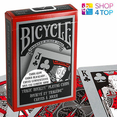 Bicycle Tragic Royalty Playing Cards Deck Glow In Dark Under Black Light - New