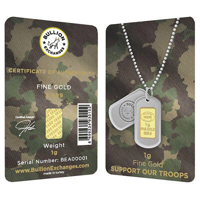 1 Gram Gold Bullion Exchanges Army Camouflage Istanbul Gold Refinery (IGR) .9999