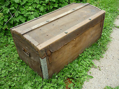 Steamer Trunk 1800's With  Pat K.Kennedy Name Plate As Found
