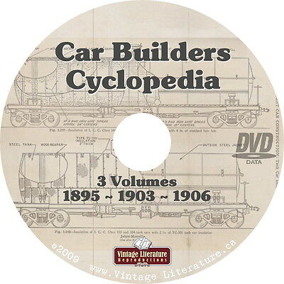 Car Builders Cyclopedia { 6 Railroading Books } on DVD