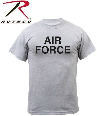 Grey PT T-Shirt Air Force Physical Training Tee T-Shirt Rothco 61020
