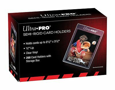 (200) Ultra-Pro SEMI RIGID Card Holders Flexible Sleeves Savers