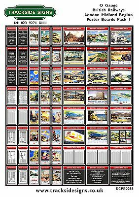 British Railways Posterboards All Regions - Posters  Adverts - O Gauge 7mm