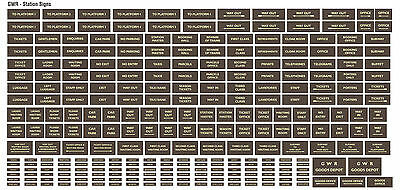 Great Western Railway GWR Model Railway Station Signs - OO Gauge 4mm