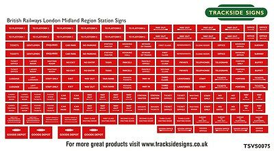British Railways Model Railway Station Signs - N Gauge 2mm - All Regions