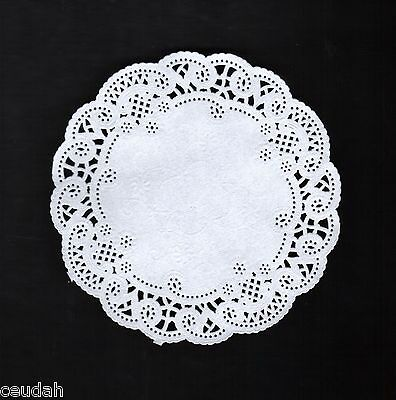 "(50) 5"" Round White Lace Paper Doily Doilies Party Decoration Elegant Accent"
