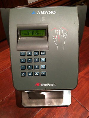 Handpunch 2000 Amano Ethernet  Hand Punch Hp-2000 Perfect Working Order