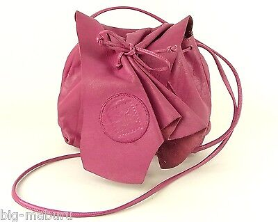Authentic Carlos Falchi Rose Pink Leather Shoulder Bag Cross Body Purse