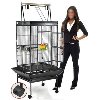 USA New Bird Cage Large Play Top Parrot Finch Cage Macaw Cockatoo Pet Supplies