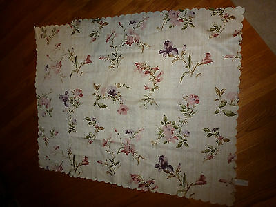 BEAUTIFUL FLORAL SQUARE TABLE SCARF  36 X 36