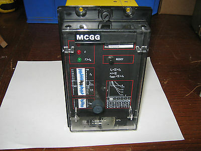 GEC 1 Phase Overcurrent Relay Relay, MCGG22D1CD1002A, 5Amp, 50/60Hz, Used