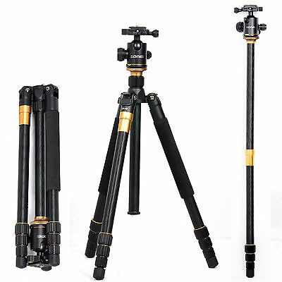 Z-669C Portable Professional Carbon Fiber Tripod &Ball Head for DSLR Camera