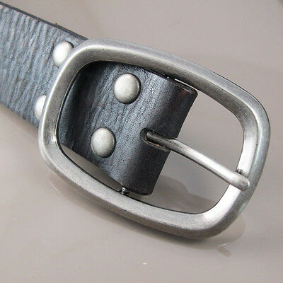 Vintage Silver Mens Womens Standard Classic Square Oval Belt Buckle NEW