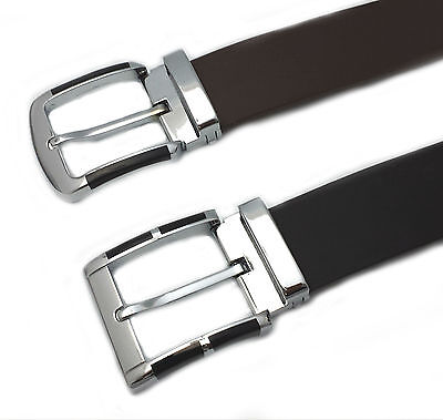 MENS REAL GENUINE LEATHER HIGH TOP QUALITY STYLISH JEANS TROUSER WAIST BELT