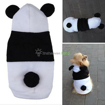 Pet Dog Cat Puppy Fleece Clothes Panda Hoodie Coat Sweater Warm Costume Apparel