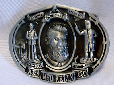 BELT BUCKLE - Ned Kelly - Jones Hotel Shootout - Heavy Duty - Excellent Quality!