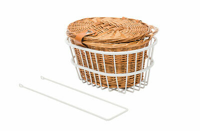 NEW White Premium Cane Basket Kit for Vintage Bike