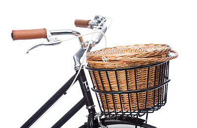 NEW Black Premium Cane Basket Kit for Vintage Bike