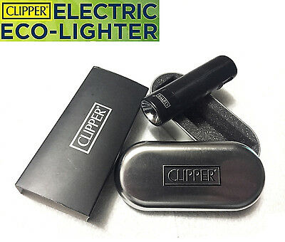 Clipper Rechargeable Electric Eco Lighter No Butane No Gas or Fluid w Gift Case