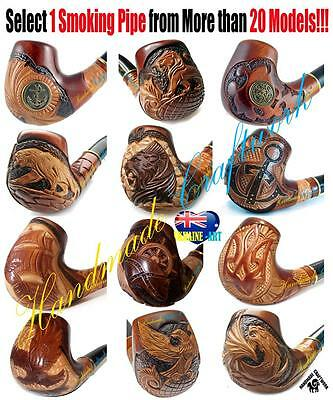 """UNIQUE DIFFICULT HAND CARVED Tobacco Smoking Pipe/Pipes """"FAIRY-TALE"""" + FREE GIFT"""