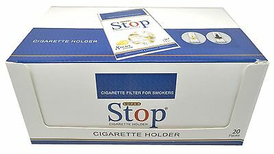 New 8-hole Super Stop Cigarette Filters 20 packs 600 filters Cut the Tar and Nic