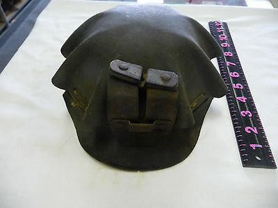 Rare Low vein mining hat Turtle Shell Vintage Coal Miner Hat