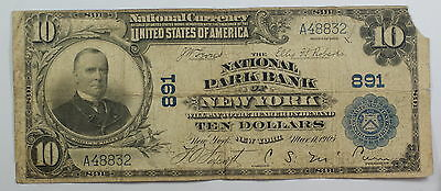 Series 1902 $10 National Banknote National Park Bank of New York Charter # 891