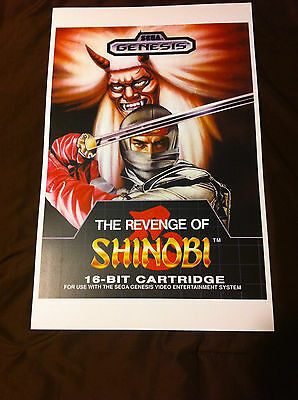 THE REVENGE OF SHINOBI 11x17 Box Art Poster - Sega Genesis No Game -
