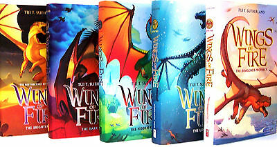 Wings of Fire 1-5 HC Collection Set by Tui T. Sutherland BRAND NEW! DRAGONET