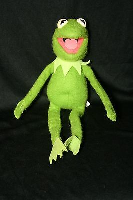 Vintage Kermit The Frog Fisher Price 857 Muppet Doll Green Plush