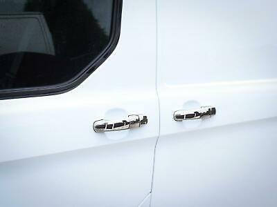 Chrome Stainless Steel Door Handle Covers 4pc Set Ford Transit Custom (2013 on)