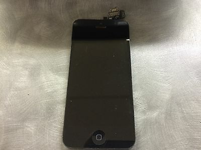 Genuine iPhone 5 LCD Touch Screen Digitizer with Camera & Home Button - Black C