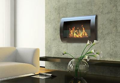 Anywhere Fireplaces Chelsea Black Wall mounted Eco Friendly Home Decor Moden