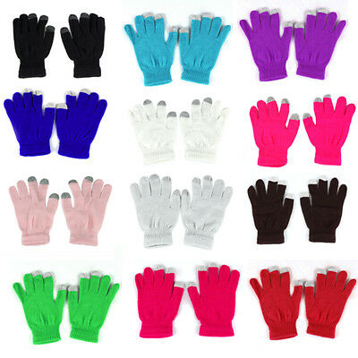 USA Seller Touch Screen Gloves Smartphone Hands Texting Winter Stretch Warm