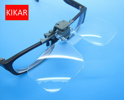 2X Magnifying Reading Glasses Clip Magnifier Spectacle Low Vision Eye Lens Clear