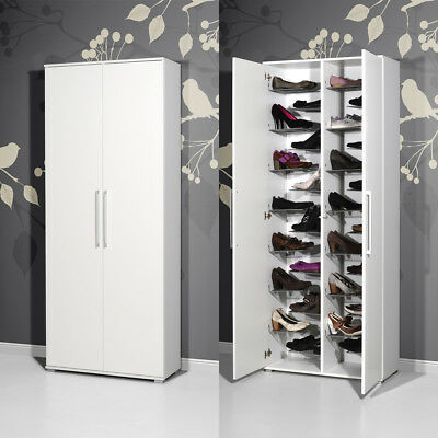 schuhschrank mit 7 ablagen h 158 cm schuhregal. Black Bedroom Furniture Sets. Home Design Ideas