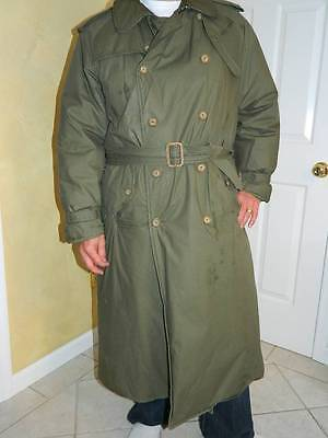 Ralph Lauren Polo Belted Long Green Down/Feather Men's Puffer Trench Coat, LGE