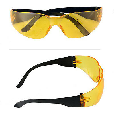 Safety Glasses Work Spectacles Specs Sports Eye Protective Eyewear Yellow Lens
