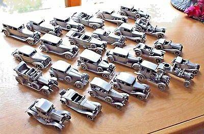 Danbury Mint Pewter Car Collection 25 Classic Cars Of The World Replicas