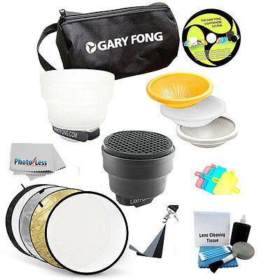 Gary Fong Lightsphere Collapsible Kit W/ 5-in-1 Diffuser 32 Inch Reflector Disc
