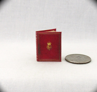 MEDIEVAL ROYAL BESTIARY Miniature Dollhouse Book 1:12 Scale Color Illustrated