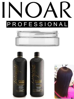 Inoar Moroccan Brazilian Keratin Treatment Blow Dry Hair Straightening 100Ml Set