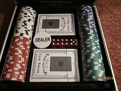TEXAS HOLDEM SET W/LOCK CASE & KEYS