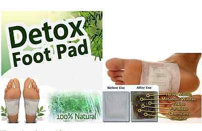 40) 20P GOLD Premium Detox Foot Pad +20P Adhesive Tape Organic Herbal Cleansing