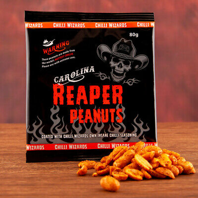 Carolina Reaper Chilli Peanuts - Hot as Hell Seasoned Peanuts