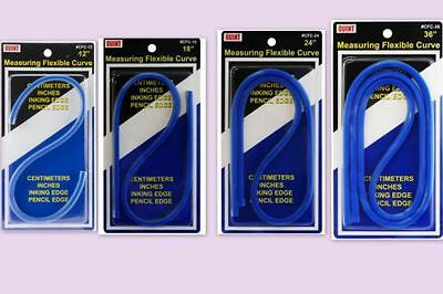 measuring flexible curve ruler cms & inches 12,18,24 or 36inch price each